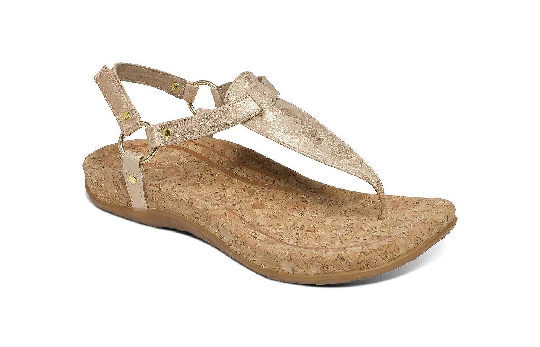 38 US 7.5-8 Aetrex Emilia Womens Slingback Orthotic Thong Sandals Blush Rose