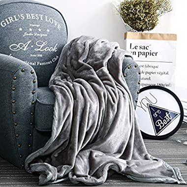Luxury Collection Ultra Soft Plush Fleece Lightweight All-Season Throw/Bed Blanket, King, Gray