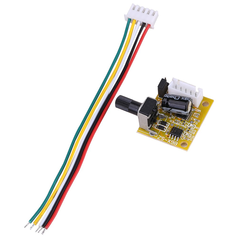 Three-Phase Brush-Less Motor Driver DC 5V-15V 15W Low Sound BLDC 3-Phase Brushless Motor Driver Sensorless Rate Controller for Industrial Equipment Machine