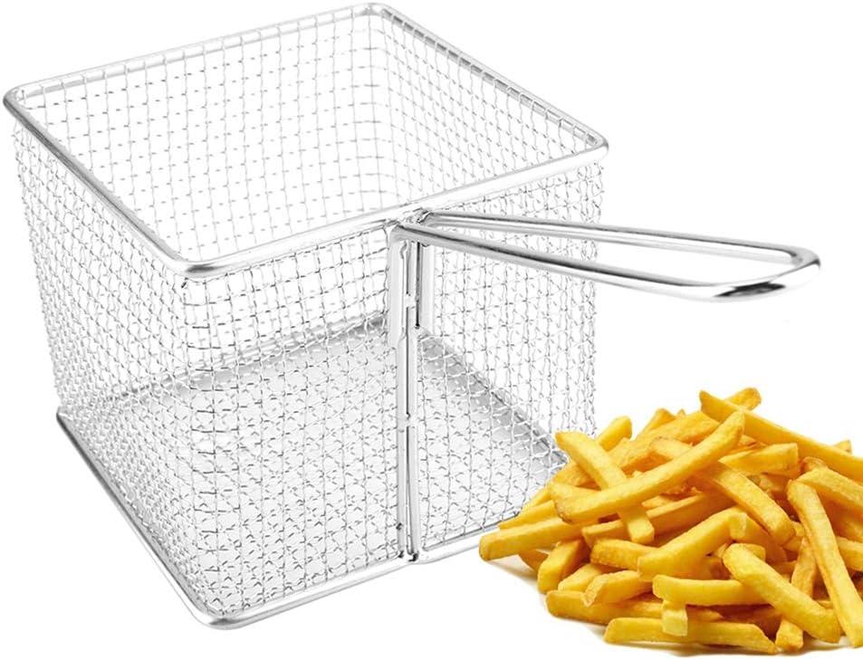 mini frites en acier inoxydable paniers /à friture profonde Panier /à frites