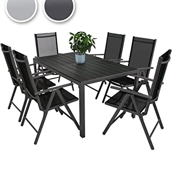 Inclinablescouleur De Table6 En 1 Jardin Salon Choix Miadomodo Terrasse Aluminium Au Chaises 8n0vmOwN