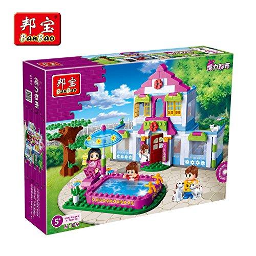 Banbao Building Block Charm City Dream House Friends Girl Toy #6109 405pcs Compatible with Lego Sluban