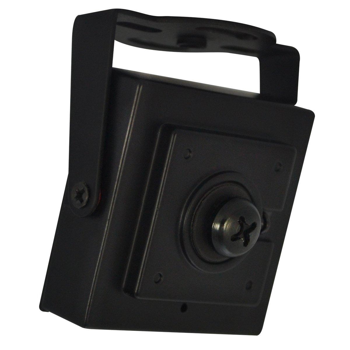 LineMak Mini Camera for indoors, 1/4'' HD Digital Sensor, 700TVL, 3.7mm Pinhole lens, for DVR or surveillance systems. by Linemak