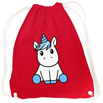 knuffiges Unicornio Unicorn Comic/TURN Bolsa con FUN Diseño aufdruck/mochila Gym yute Bolsa/regalo ideal