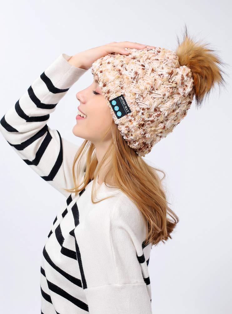 QYXANG Wireless Blautooth Mütze, Smart Knit Wintermütze mit Lautsprecher Mic Mic Mic für Fitness Outdoor Sports B07H3VRYR6 Kappen Trend 49420c