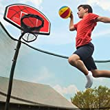 JumpKing Trampoline Basketball Hoop with Attachment and Inflatable...