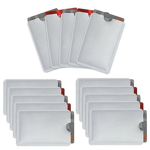 Owfeel Pack Of 15 RFID Blocking Secure Credit Card Holder Credit Card ID Anti Theft WaterProof Protector Secure Holder