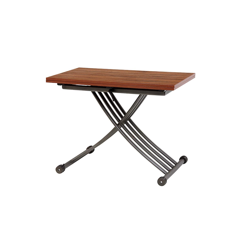 昇降テーブル サイドテーブル (天板が2倍に、高さ無段階調節)SIsiKT22319677BR B07P7MBTXK