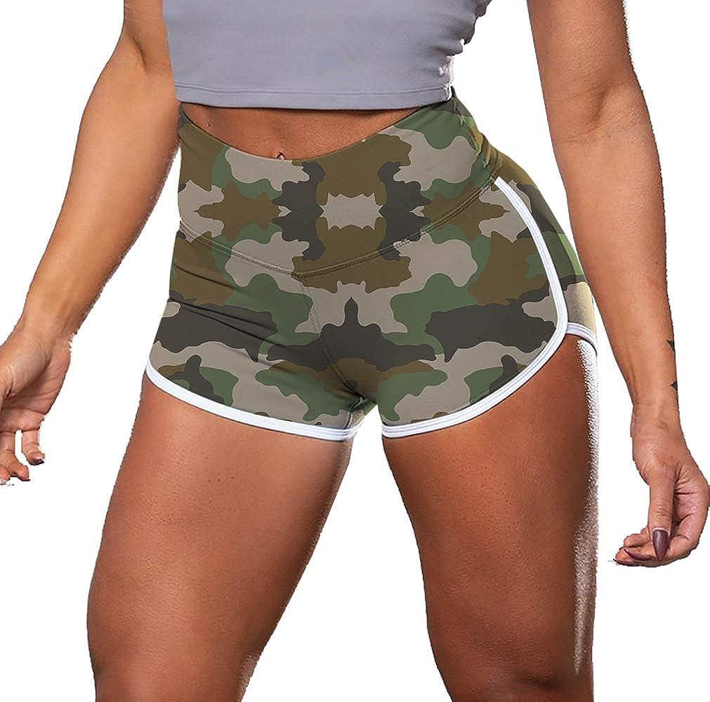 Aurgelmir Womens Workout Shorts Scrunch Booty Gym Yoga Pants Middle//High Waist Butt Lifting Sports Leggings