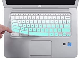 CaseBuy Ultra Thin Keyboard Cover Compatible with HP 14 inch Chromebook/HP Chromebook 14-db Series/HP Chromebook 14-ca Series/HP Chromebook 14-ak Series/HP Chromebook 14 G2 G3 G4 G5, Ombre Mint Green