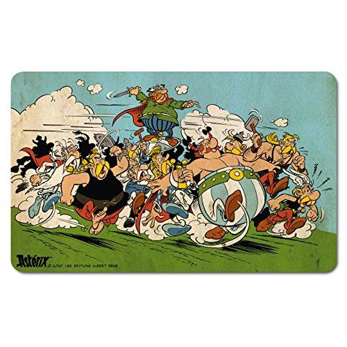 Asterix Frühstücksbrettchen - Asterix & Obelix - Attacke - Lizenziertes Originaldesign - LOGOSHIRT