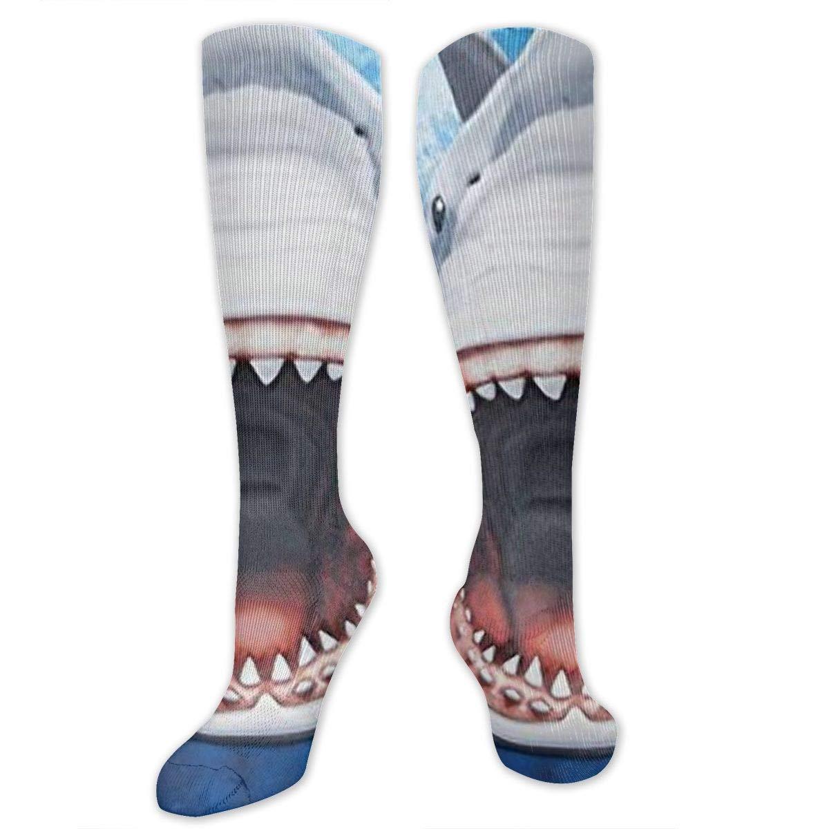 Socks Shark Mens//Womens Sensitive Feet Wide Fit Crew Socks and Cotton Crew Athletic Sock