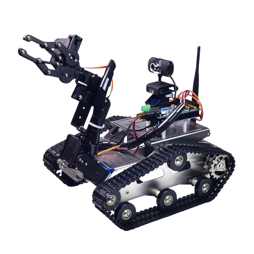 XiaoR Geek FPV Robot Car Kit with Robotic arm Hd Camera for Arduino,Utility Intelligent Tank chassis Robotics Vehicle,Smart Learning & Educational TH Robot Toys by iOS Android PC Controlled