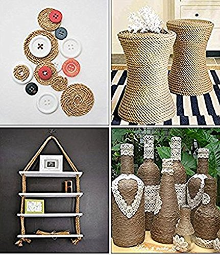 100% Natural Hemp Ropes Multi Purpose Utility Rope Thickness and Strong Jute Cord for Arts Crafts Gift Tags Present Wrapping DIY Gift Packaging (20m(64ft)) by RGA (Image #2)