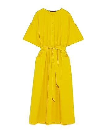Zara Women Midi Dress With Belt 7563/045 (X-Small)