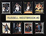 NBA Oklahoma City Thunder Russell Westbrook 8-Card Plaque, 12 x 15-Inch