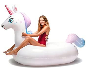 Floatie Kings Unicornio Flotador de Piscina - Inflable Gigante: Amazon.es: Juguetes y juegos