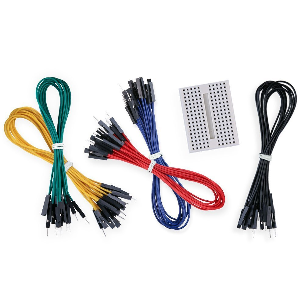 Aketek 50 Pcs Jumper Wires Premium 200mm M F Male To Breadboard With Wire Kit Watterott Electronic Female Computers Accessories