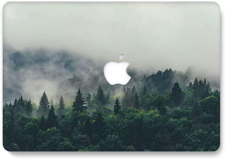 MacBook Air 13 Case, AQYLQ Landscape Pattern Rubber Coated Plastic Protective Cover Hard Case for Apple Laptop MacBook Air 13 inch Model A1369/A1466 - Hazy Tree