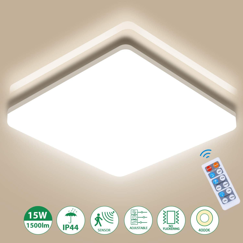 Oeegoo 15W Plafón LED Regulable, 1500Lm LED Lámpara de Techo con ...