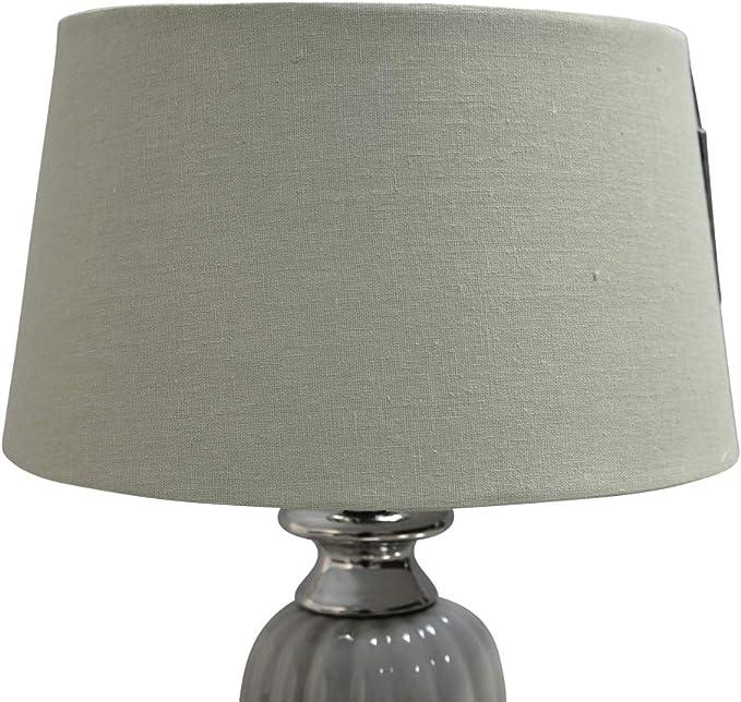 Dasmöbelwerk pantalla para lámpara de pie Leuchten pantalla de lámpara de mesa altura regulable PTMD, Ø 30 cm oliv: Amazon.es: Iluminación