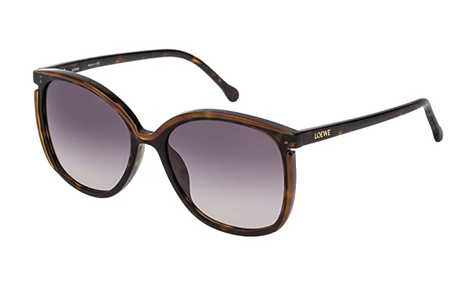 Loewe SLW963M5601EH Gafas de sol, Dark Havana/Light Brown ...