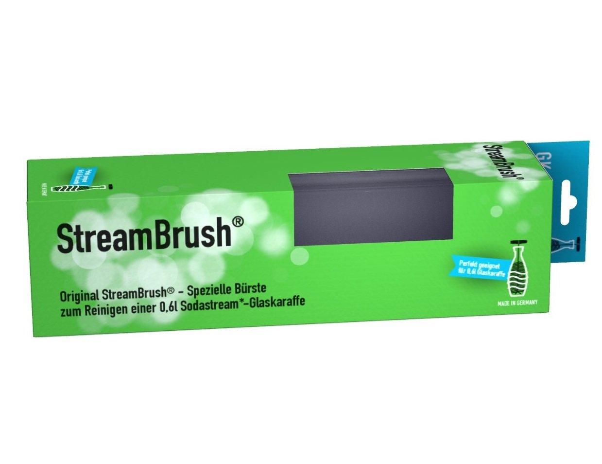 StreamBrush® Flaschenbürste für 0,6 Liter Glas Sodastream Flaschen Rydges® Media Technology