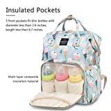 HaloVa Diaper Bag, Large Mommy Daddy Baby Travel