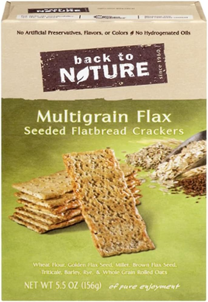 Multigrain Flax Seeded Flatbread Crackers 5.50 Ounces (Case of 6)
