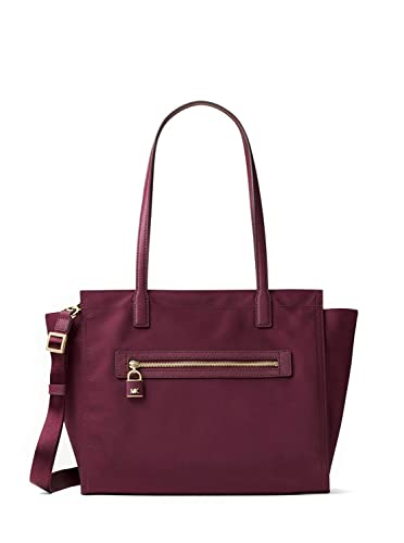95b64ac4fb71a0 Amazon.com: MICHAEL MICHAEL KORS Janie Large Nylon Tote - Plum: Shoes