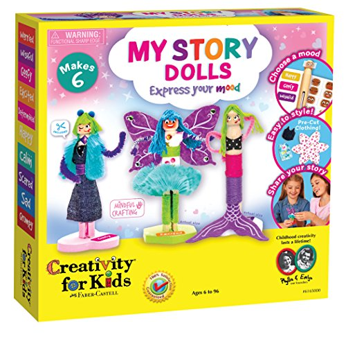 Creativity for Kids My Story Dolls - Create 6 Wooden Clothespin Dolls -