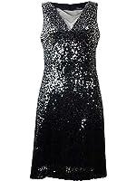Jessica Simpson Women's Sequin Sleeveless Flare Dress