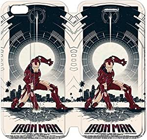Fashion Style Iron Man Phone case Thin Slim Flip Leather Case Cover For iPhone 6 4.7 inch OOL2961406