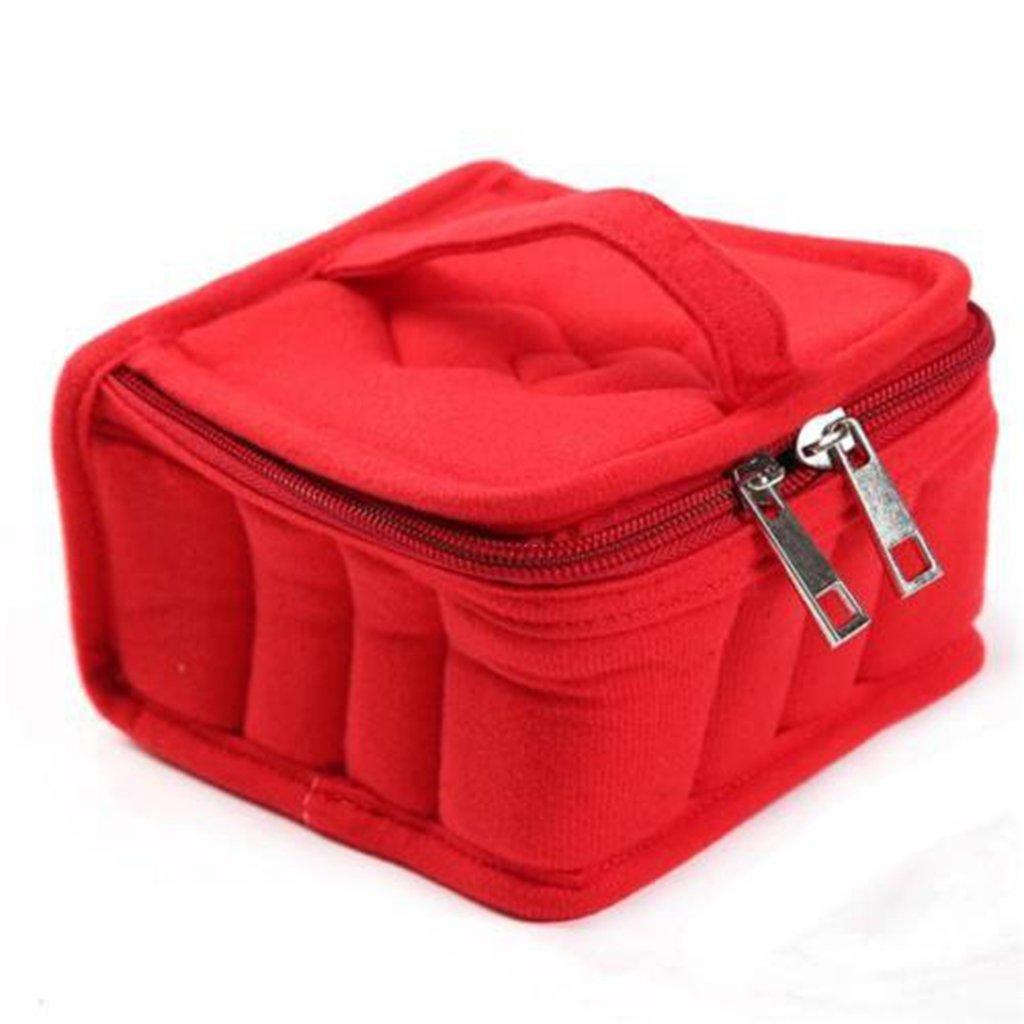 Hengsong 1x Aromathérapie Diffuseur de Stockage Huile Essentielle Carry Case Bag Box Organizer Trousse de Maquillage (Rose) mei_mei 9 MF7423