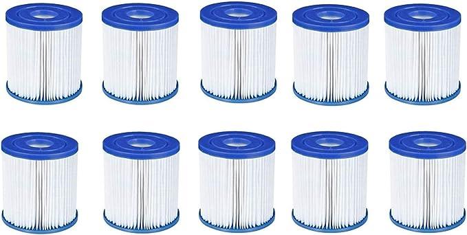 XUNGENG - Filtro de piscina tipo I, para Bestway 58093, filtro de cartucho, repuesto para filtro de spa, filtro de cartucho, accesorios para la limpieza de la piscina (10 unidades)