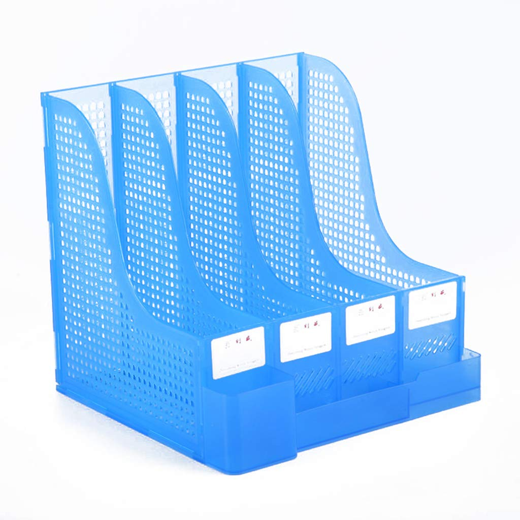 Dateihalter Tabelle Multifunktional Dateikorb Vier Spalten Büro Datenfeld Dateileiste Verdicken Kunststoff Stand Buchen Büromaterial (Farbe    2) B07MVY8B1Z | Qualitativ Hochwertiges Produkt