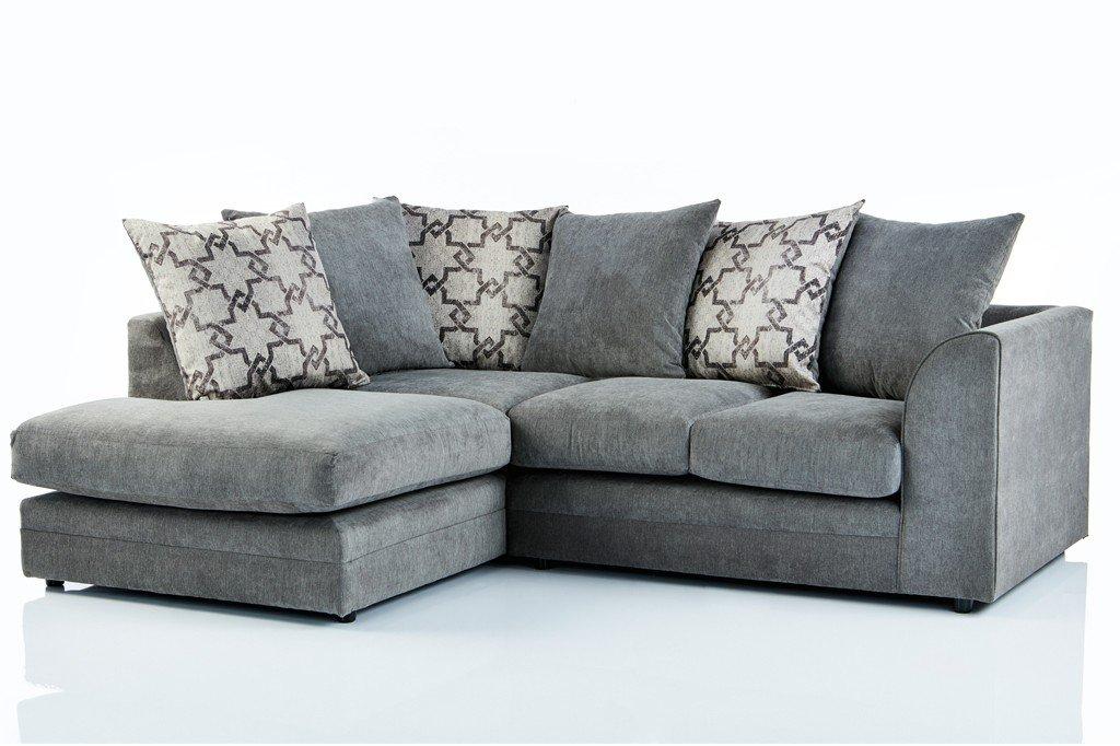 furniturestop.co.uk Chicago Graceland Fabric Left Hand Corner Sofa - Grey
