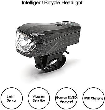 Tmoxen Modo de inducción óptica, indicador de batería, luz de ...