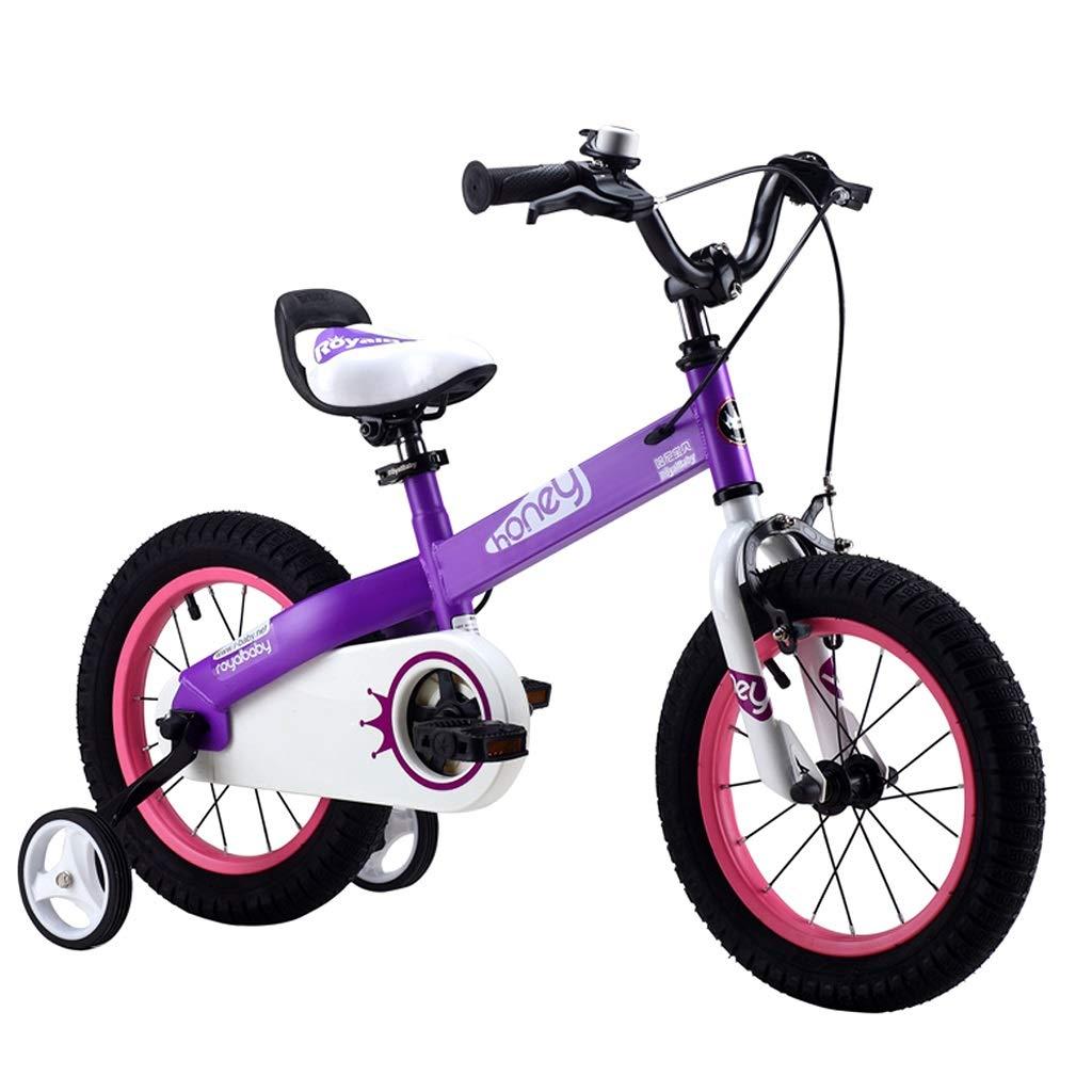 子供用自転車 子供用自転車 210歳のベビーカー 男の子と女の子の屋外用自転車 子供用自転車のお出かけ 最高の贈り物 (Color : Purple, Size : 16 inches) 16 inches Purple B07Q6QRWKF