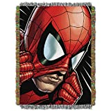 Spider-Man,Peter Parker Woven Tapestry Throw Blanket, 48'' x 60''