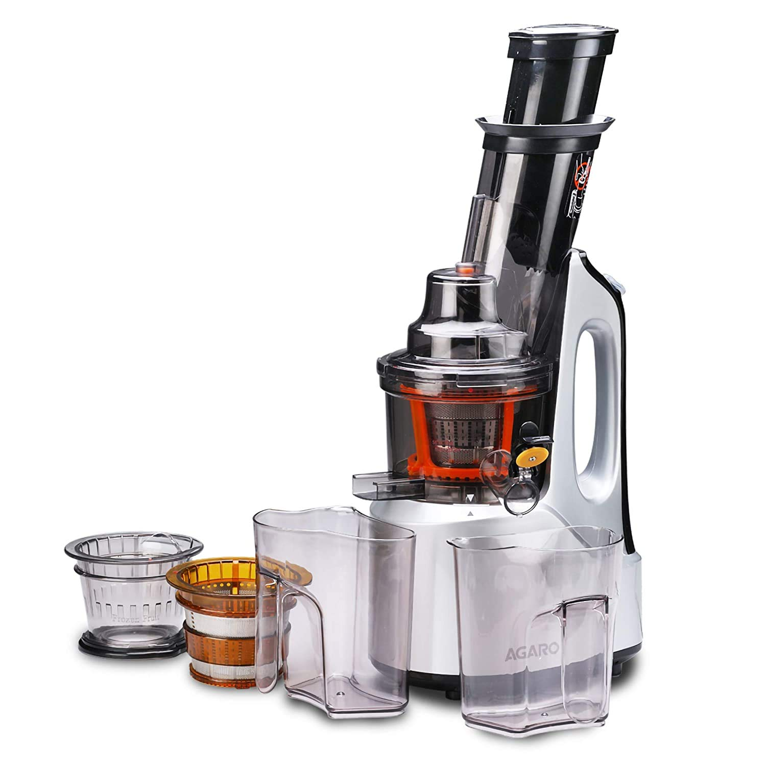 Agaro black and silver color cold pres best juicers in India