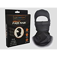 GrandPitstop Face Mask for Bike, Ski, Cycling, Running, Hiking - Protects from Wind, Sun, Dust - 4 Way Stretch - #1 Rated Face Protection Mask (Black)