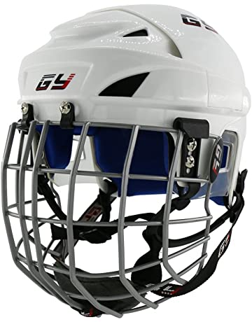 5e76db54cb3 GY Upgrade Classical PP Ice Hockey Helmet Blue Impact Resistance PU Liner  in White Color Mix