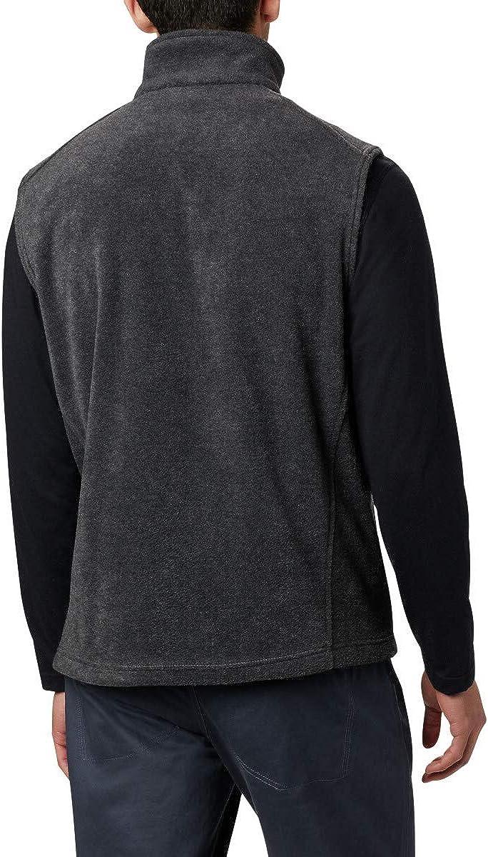 Charcoal Heather Columbia Mens Steens Mountain Full Zip Soft Fleece Vest X-Large