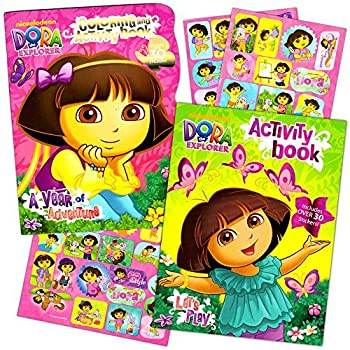 Dora The Explorer Coloring Book Super Set 2 Books With Stickers And