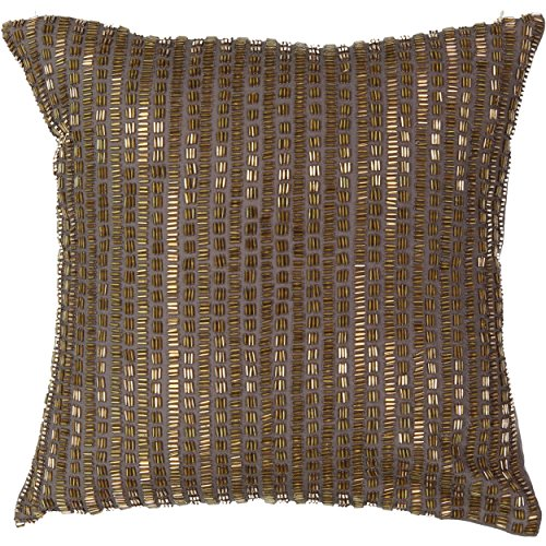 Beautyrest 16332014X014MNK Sandrine 14-Inch by 14-Inch Beaded Decorative Pillow, (Beaded Throw Pillow)