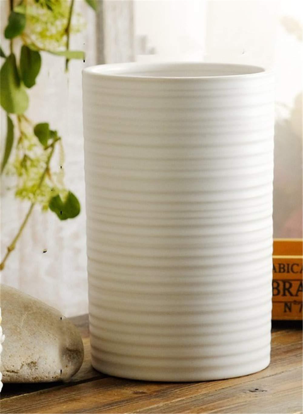 Amazon.com: Maceta de cerámica con patrón de espiral blanco ...
