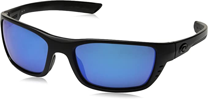 Costa Del Mar Whitetip Blackout Frame Blue Mirror 580P Plastic Polarized Lens