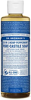 product image for Dr. Bronner's - Pure-Castile Liquid Soap (Peppermint, 8 ounce) - Made with Organic Oils, 18-in-1 Uses: Face, Body, Hair, Laundry, Pets and Dishes, Concentrated, Vegan, Non-GMO