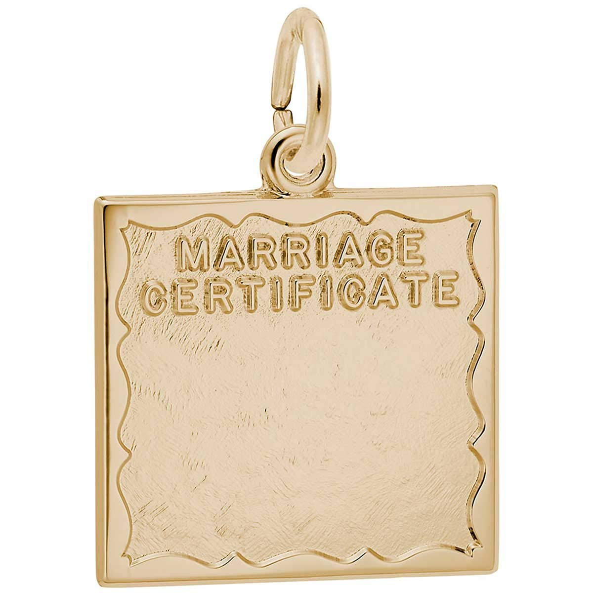 Rembrandt Charms Marriage Certificate Charm, 14K Yellow Gold